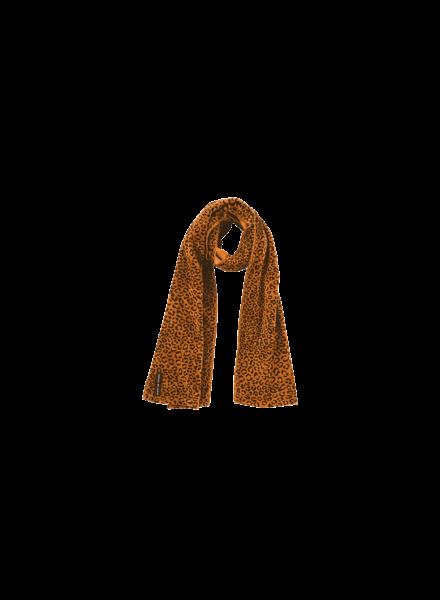 House of Jamie Long scarf fleece golden brown leopard