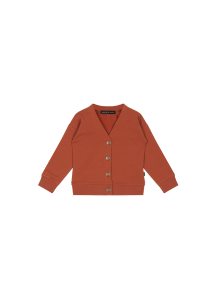House of Jamie BUTTON CARDIGAN rust