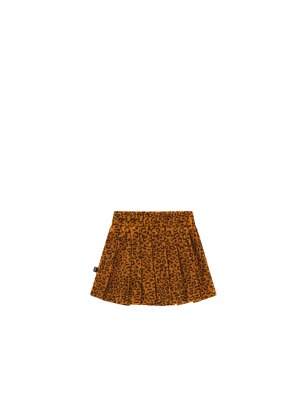 House of Jamie PLEATED SKIRT Golden Brown Leopard