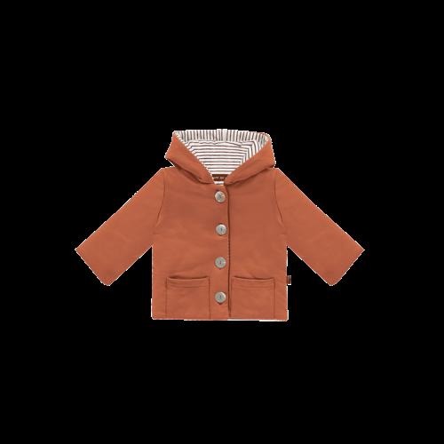 House of Jamie Bow tie hooded jacket rust