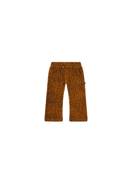 House of Jamie Flared pants golden leopard
