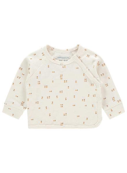 imps&elfs 97555 T-shirt long sleeve  Antique White AOP Apples
