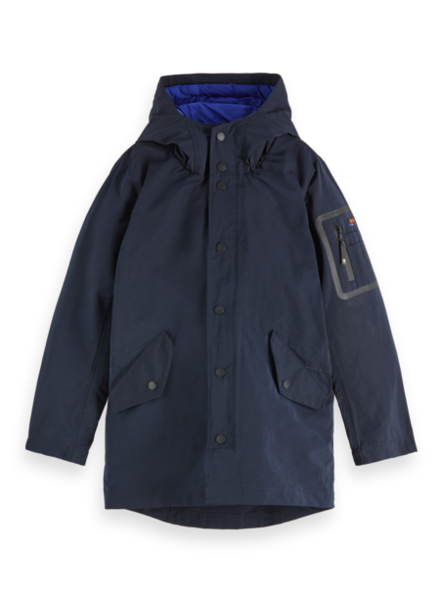 Scotch & Soda Parka blauw 153436
