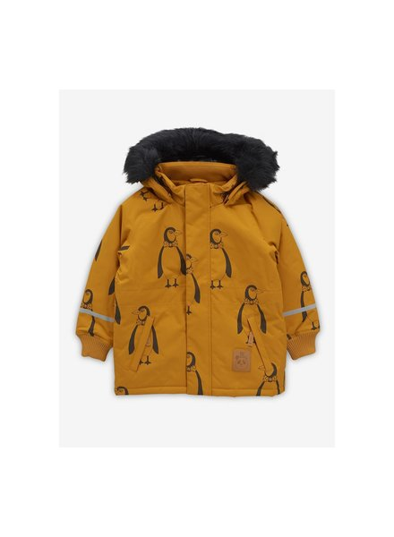 Mini rodini K2 penguin parka brown