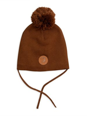 Mini rodini Tiger patch hat brown