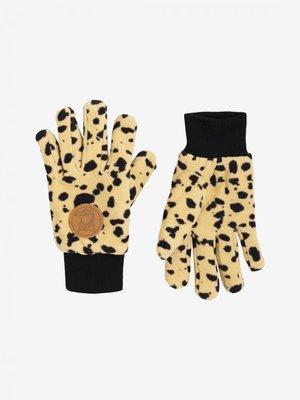 Mini rodini fleece gloves Beige