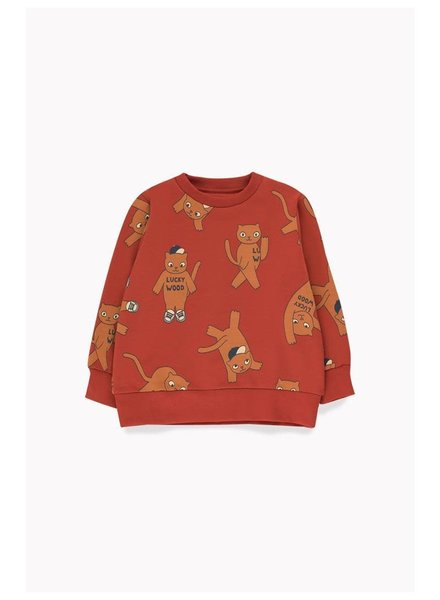 "Tiny cottons ""CATS"" SWEATSHIRT dark brown/brown"