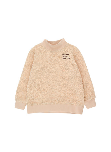 "Tiny cottons ""YOU ARE LUCKY"" SWEATSHIRT sand/aubergine"