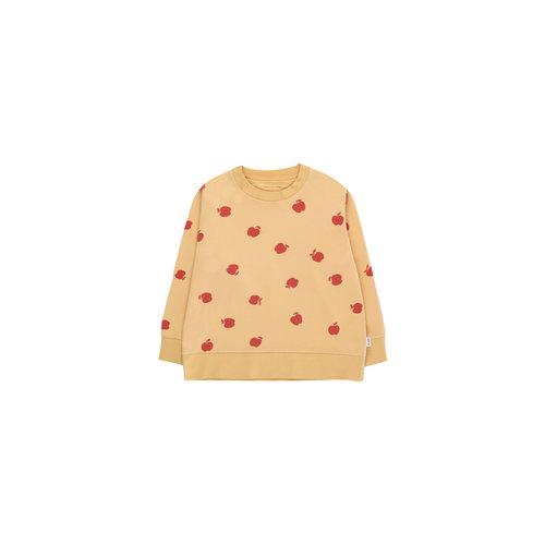 "Tiny cottons ""APPLES"" SWEATSHIRT sand/burgundy"