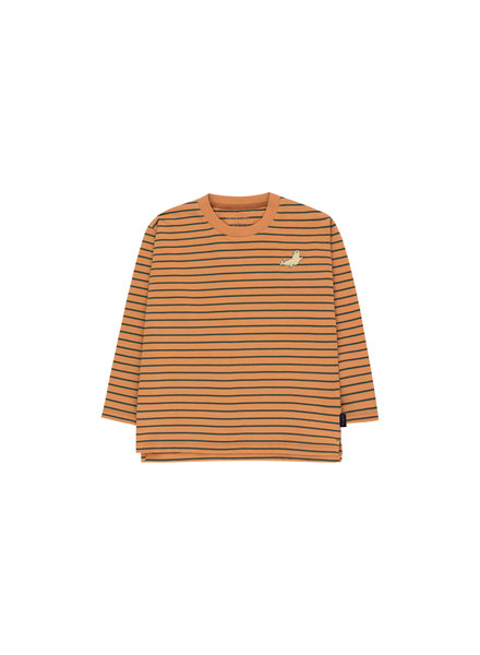 Tiny cottons STRIPES LS TEE brown/bottle green