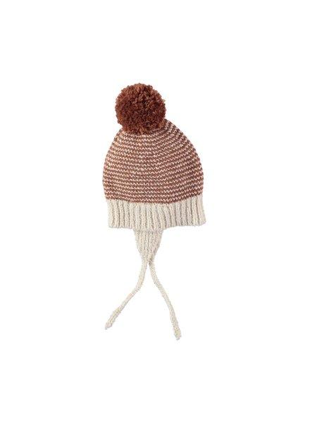 Buho Yaki stripes pom pom boy hat