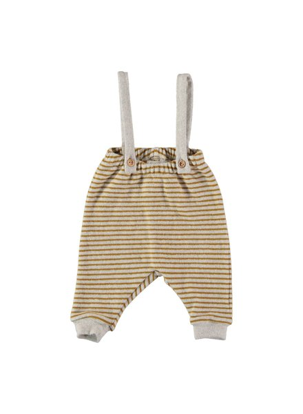 Buho DIDI STRIPES PANT WITH SUSPENDERS ecru yellow