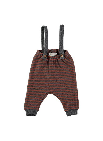 Buho DIDI STRIPES PANT WITH SUSPENDERS grey