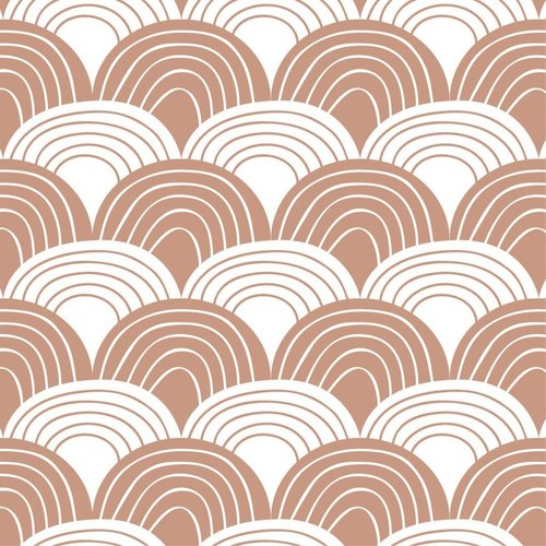 Swedish linens S RAINBOWS Terracotta pink, 40x80cm, Fitted sheet