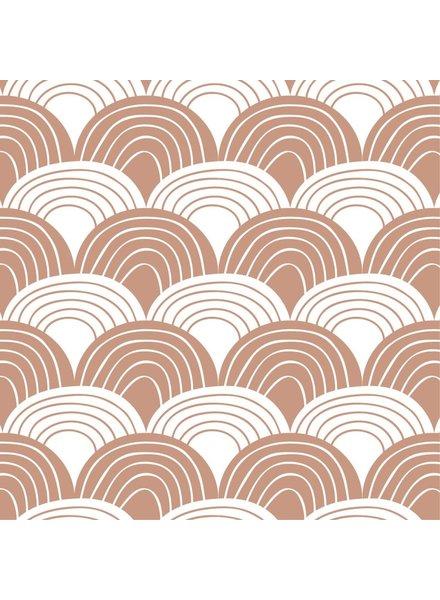 Swedish linens RAINBOWS Terracotta pink, 70x100cm, Baby flat sheet