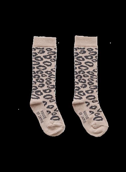 House of Jamie Knee socks leopard