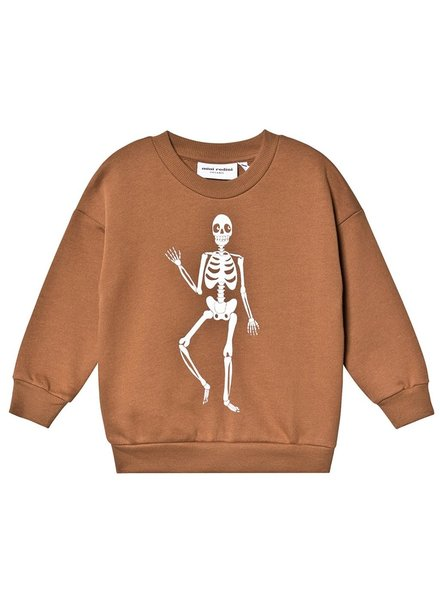 Mini rodini MR Skeleton sp sweatshirt brown