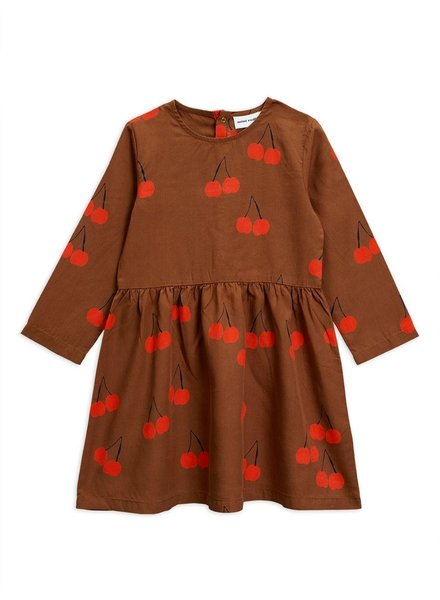 Mini rodini MR Cherry woven dress brown