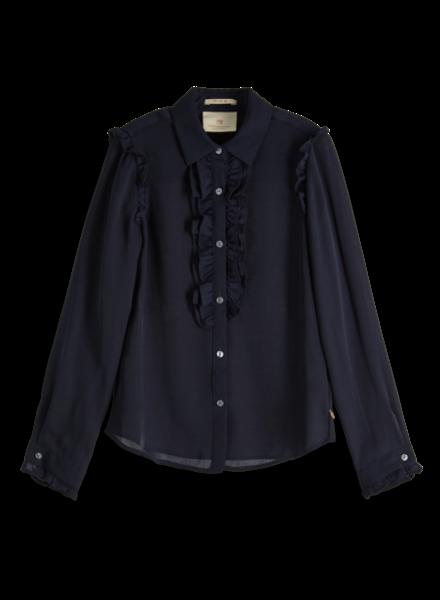 Scotch & Soda Shirt with ruffle placket 151772-002