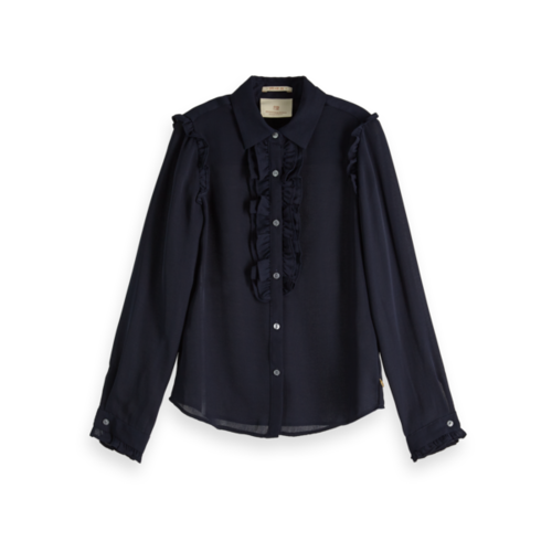 Scotch & Soda Shirt with ruffle placket 151772-002