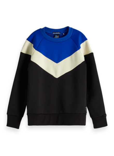 Scotch & Soda Colour-block crewneck sweat 151424