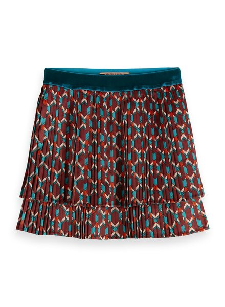 Scotch & Soda All-over printed double layer pleated skirt 151870