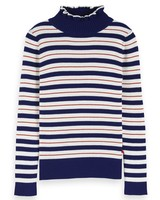Scotch & Soda Turtle neck in knitted rib with details 154062 0217 -