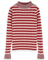 Scotch & Soda Turtle neck in knitted rib with details 154062 0218 -