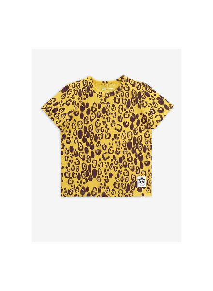 Mini rodini 2012015723 Leopard ss tee - Yellow