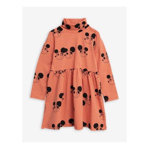 Mini rodini 2015012042 Ritzratz aop turtleneck dress - Red