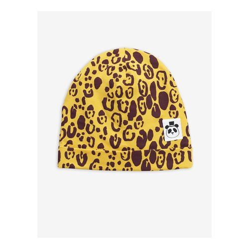 Mini rodini 2016510623 Leopard beanie - Yellow