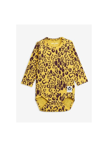 Mini rodini 2012015523 Leopard ls body - Yellow