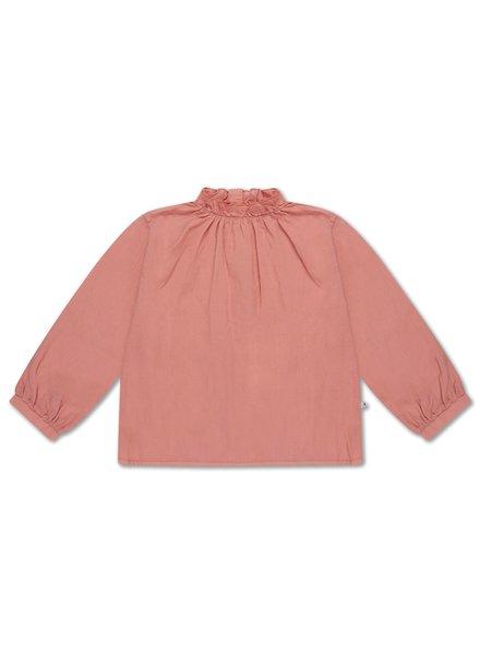 repose ruffle blouse POWDER PEACHY