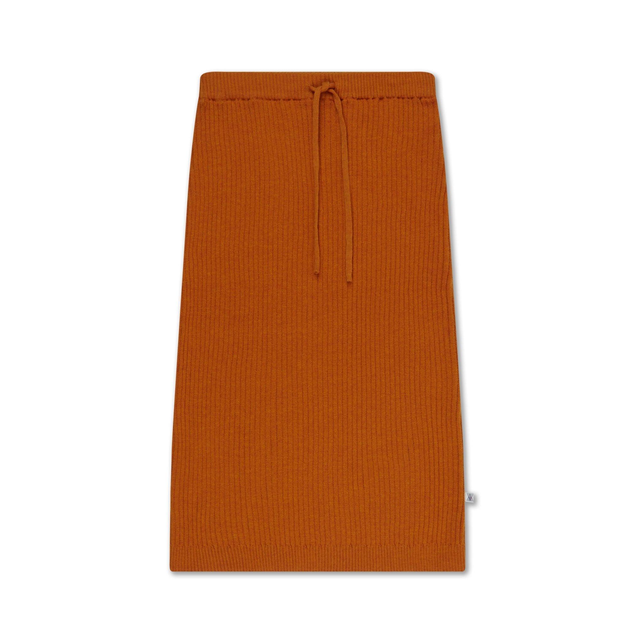 repose knit skirt  warmed rust