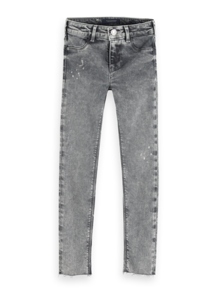 Scotch & Soda Jeans la milou cropped grey collage