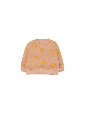 "Tiny cottons ""HEARTS"" SWEATSHIRT light nude/yellow"