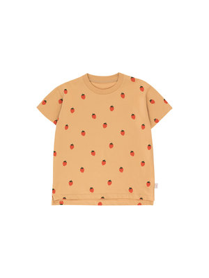 """Tiny cottons """"STRAWBERRIES"""" TEE toffee/red"""