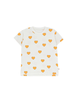 """Tiny cottons """"HEARTS"""" TEE off-white/yellow"""