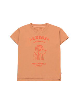 """Tiny cottons """"PAPPARDELLE STYLE"""" TEE tan/red"""
