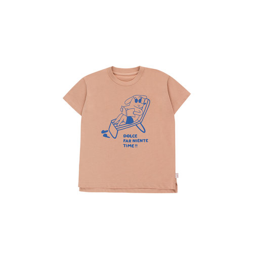 """Tiny cottons """"READING DOG"""" TEE light nude/cerulean blue"""