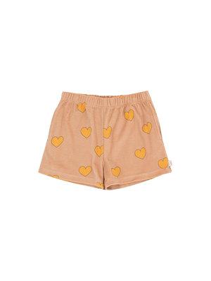 "Tiny cottons ""HEARTS"" SHORT light nude/yellow"