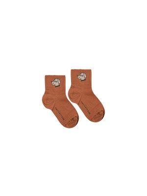Tiny cottons DOG QUARTER SOCKS cinnamon/cappuccino