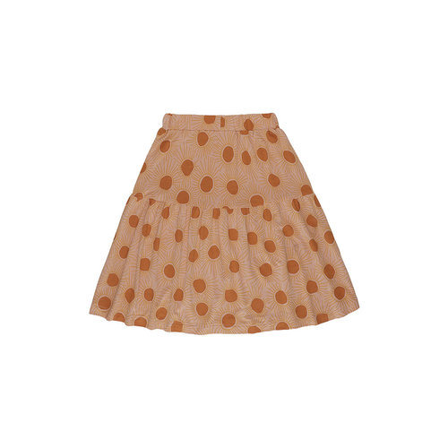 Soft Gallery Edel Skirt, Peach Bloom, AOP Sunshine