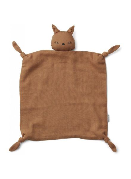Liewood Agnete cuddle cloth cat terra cotta