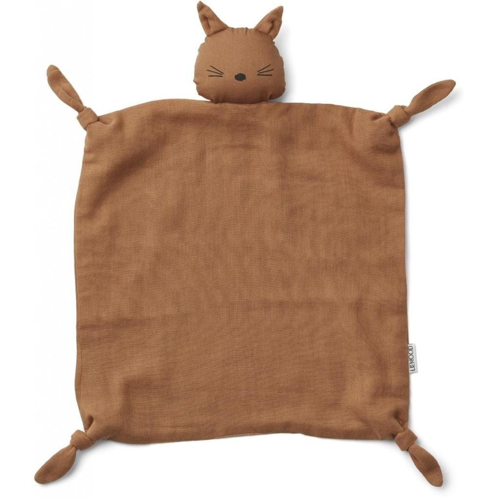 Liewood Agnete cuddle cloth cat terra cotta
