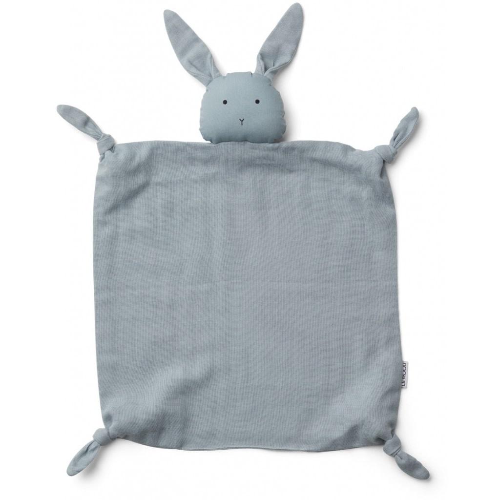 Liewood Agnete cuddle cloth rabbit seablue
