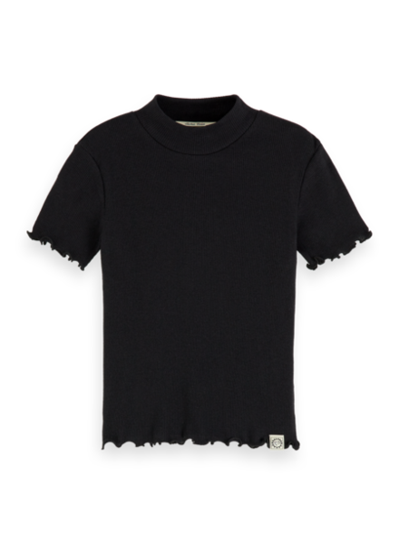 Scotch & Soda Fitted ss tee with high neck 157847