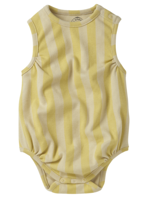 Sproet&Sprout Romper loose stripe Mellow Yellow