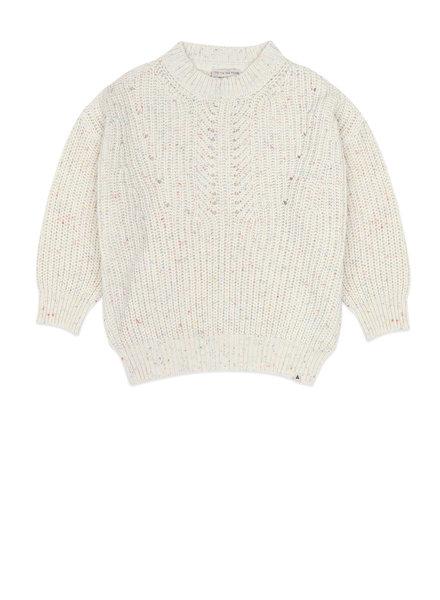 ammehoela Knitted sweater jumper egg white multi