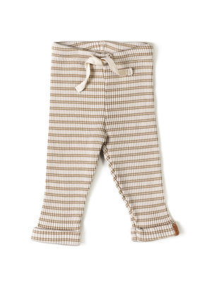 Nixnut Rib Legging Stripe Biscuit/ Dust